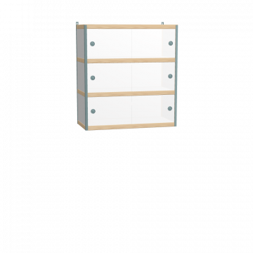 Wall mounted cabinet (97x90x42 cm)